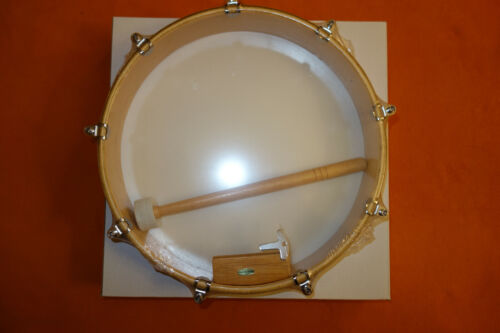 SUZUKI 12inch HAND DRUM w/ beater & tuning key Made Taiwan woodrim syntheticskin