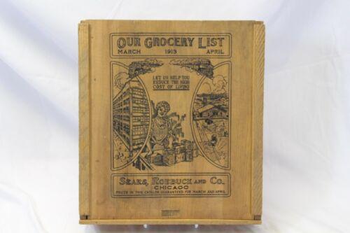 1913 Sears Roebuck Catalog Wooden Box