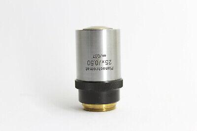 Lomo Microscope Objective 25x0.50 Inf0.17 M19 Planachromat
