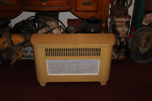 Vintage Metal Radiator Cover Grate Furniture Lid Lifts Open Large Size Vent