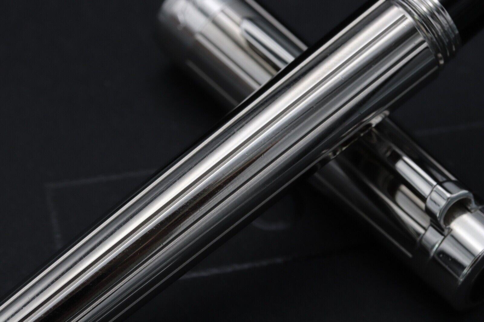 Cartier Pasha de Cartier Striped Silver-Plated Fountain Pen 2