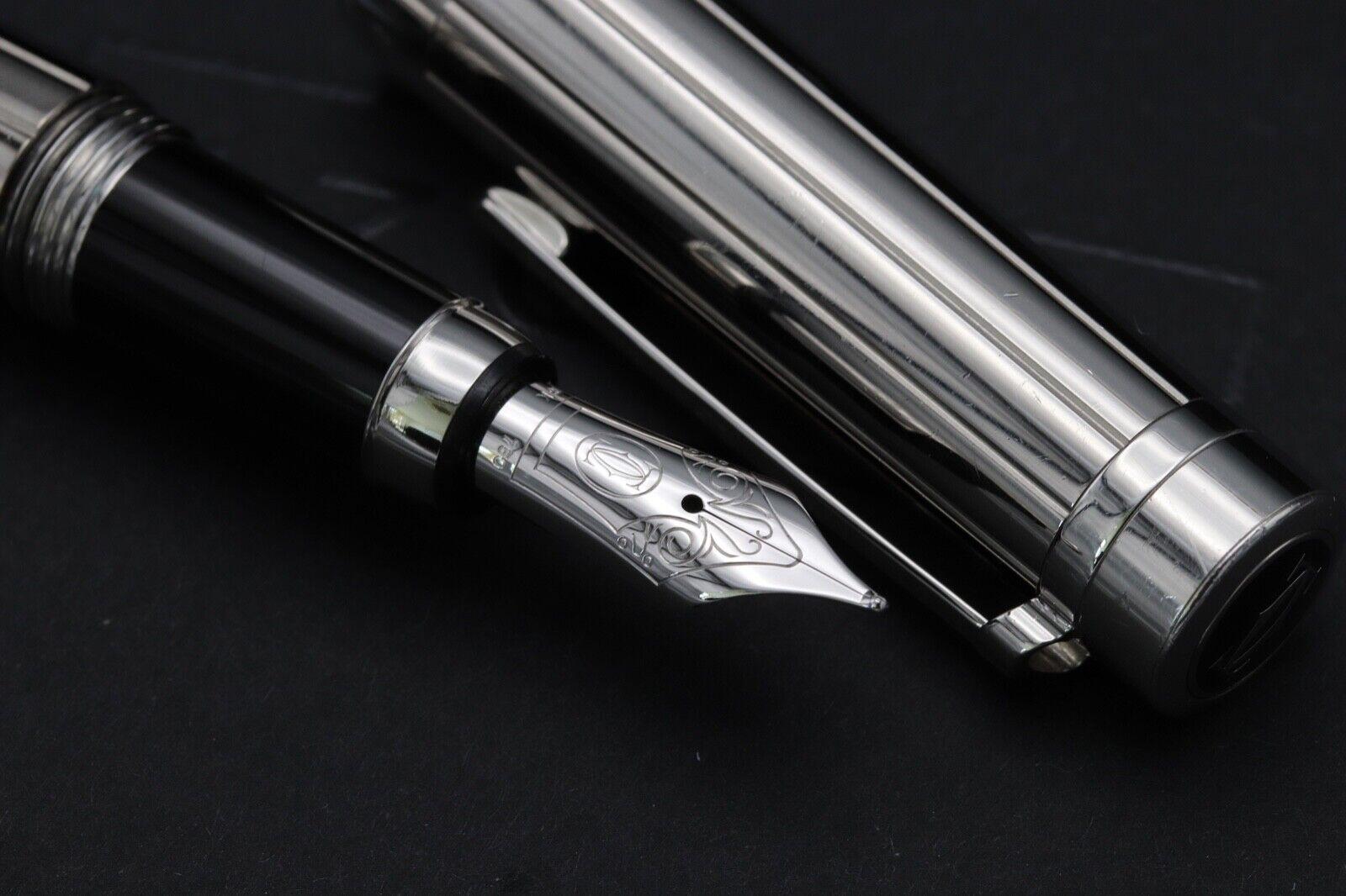 Cartier Pasha de Cartier Striped Silver-Plated Fountain Pen 3