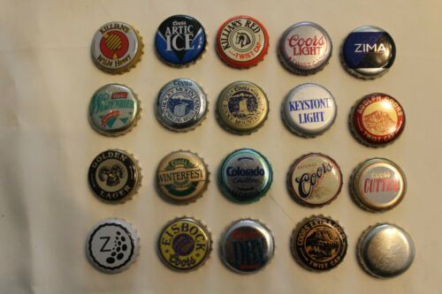 Vtg Coors Used Bottle Caps Lot of 20 Circa 1980s 6 Photos g-e