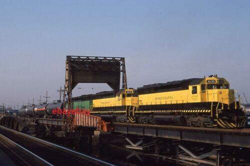 Original Railroad Slide - NYSW 3630 + 2 at Little Ferry NJ