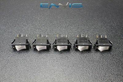 5 Pcs Rocker Switch On Off Mini Toggle White Led 12v 16 Amp Ec-1220wh