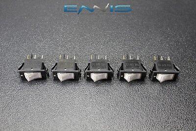 5 Pcs Rocker Switch On Off Mini Toggle White Led 12v 16 Amp Ec-1220wh