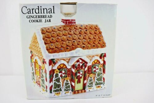 Cardinal Gingerbread Cookie Jar Hand Painted