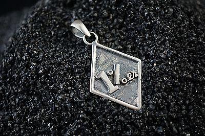 925 Solid Sterling Silver 1% ER Outlaw Pendant for Harley Davidson Biker 07