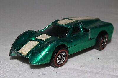 HOT WHEELS REDLINE FORD J CAR, METALLIC GREEN, USA, NICE, ORIGINAL