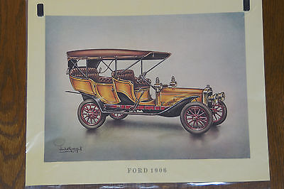 Ford 1906-- Poster - Plakat - Farbe -- 30 x 37 cm --