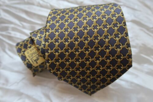 Hermes Tie Chain Link Pattern