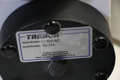 Trebor Model 110e0-ac Pneumatic Diaphragm Chemical Pump W Pc6-ba Ss40 Surge.