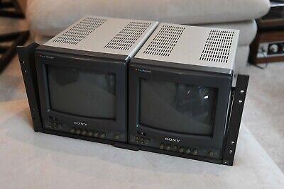 "Sony PVM-8220  Dual 8"" Monitors + Rack Mount"