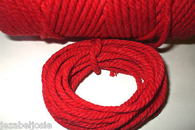 5 or 10 metres of 4mm Chunky SOLID RED Cotton Bakers Twine  Christmas Tags