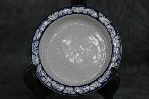 """Dedham Pottery Potting Shed Bunny Rabbit Round Dish Bowl 6"""" (SH5855)"""