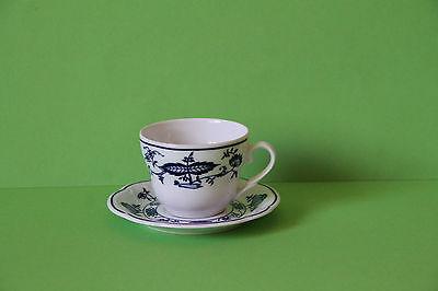 3 Kahla Zwiebelmuster kleine Kaffeetasse Mokkatasse Tasse & Untertasse 3 Stück