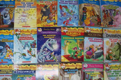 Lot of 10 of Geronimo Stilton & Thea Stilton Books - Random - Free Shipping
