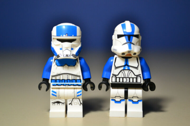 Authentic LEGO StarWars Captain Rex Minifigure sw450 75012 501st Legion NO CLOTH