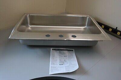 Elkay Lustertone Single Bowl Top Mount Stainless Steel ADA Kitchen Sink (GT) Elkay Lustertone Ada Sink Bowl