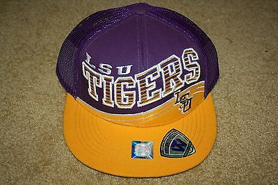 """LSU TIGERS TOP OF THE WORLD """"ELECTRIC SLIDE"""" MESH BACK SNAPBACK HAT (NWT)"""