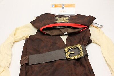 PIRATE YOUTH SIZE L (10-12) INCLUDES HAT, EYEPATCH, TOP & BELT HALLOWEEN COSTUME