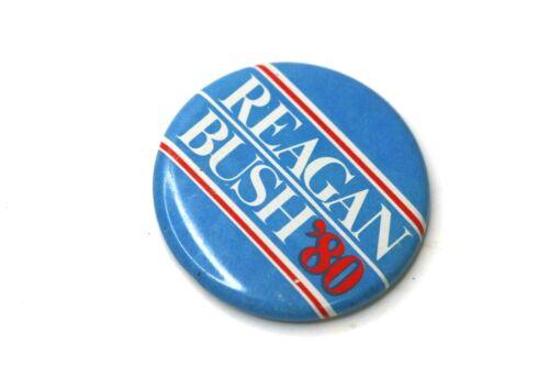 Ronald Reagan George Bush 1980 Republican Campaign Button Political Pinback