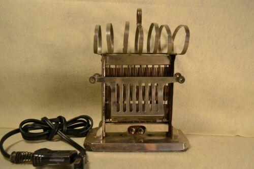 RARE 108 Yr Antique Universal Elec Toaster w Toast Rack on Top & Cord  #p85127