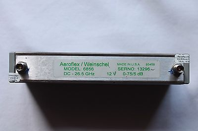 Aeroflex Weinschel Programmable Step Attenuator 26.5 Ghz 5 Db Step 152t-75 6856