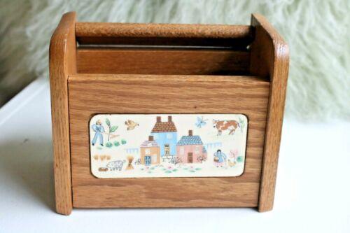 "International China ""Heartland"" Farm Scene Wooden Recipe Box"
