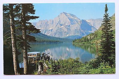 04D Postcard EXCURSION BOAT ON JOSEPHINE LAKE, GLACIER PARK, MONTANA