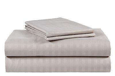 Queen Size Silver/Gray 500 Thread Count 100%Cotton Sateen