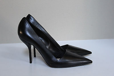 Christian Dior Black Leather Pointed Toe Classic Pump Shoes sz 10.5 / 40.5