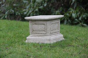 SQUARE PLINTH/BASE COLUMN Stone Bespoke Handcast Garden Ornament Decor