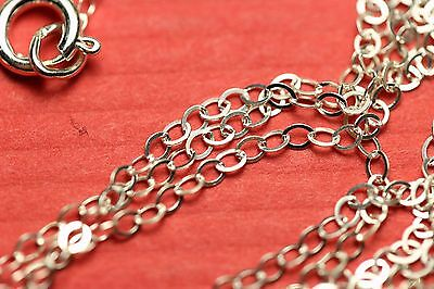 STERLING SILVER FLAT CABLE LINK CHAIN NECKLACE LOT 16 - 24 inch Wholesale Bulk