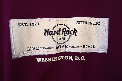Authentic Hard Rock Cafe T-Shirt Washington, D.C. Maroon Size L