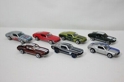 Hot Wheels 1968 Ford Mustang Lot of 7 w/Treasure Hunt & Classics Series Loose