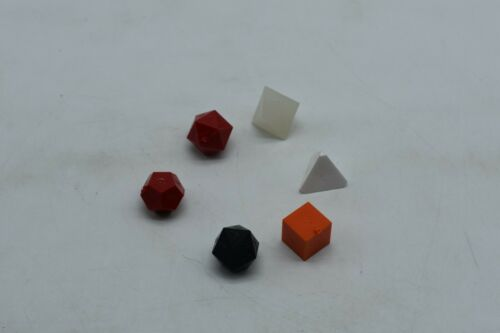 Vintage Windmill Polyhedral 6 Dice Set for RPG DnD NOS - Very Nice UN INKED RAW