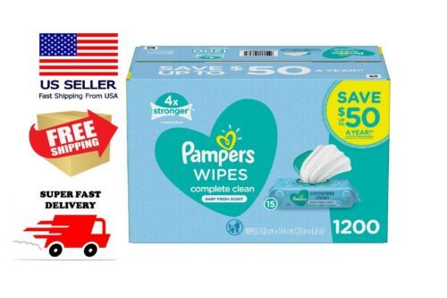 Pampers Scented Baby Wipes, Complete Clean (1200 ct.) FAST DELIVERY!!!