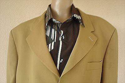 Veste de costume beige de marque ted lapidus 100 % laine vierge t m/l t56
