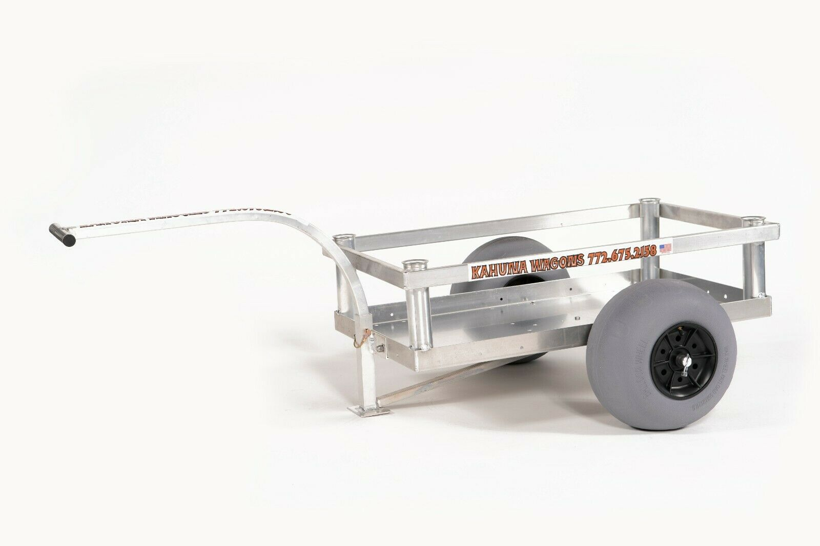 Bimini Beach Wagon-Four Rod Holders-No-Rust-Sand Tires- Alum