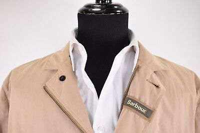 d9e28ecfe19 Barbour NWT Summer Lutz Jacket Size XL in Stone w  Leather Accents