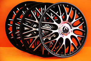13 renault clio twingo megane etc wheel trims covers hub caps black silv ebay. Black Bedroom Furniture Sets. Home Design Ideas