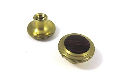 """Bridge City Tool Works Brass Knobs with Brazilian Rosewood Infill 1"""" D x 5/8"""" H"""