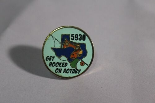 Rare Get Hooked On Rotary Enamel Lapel Pin 5930