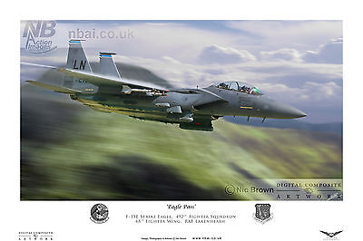 492nd Fighter Squadron F-15E, RAF Lakenheath Digital Artwork