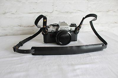 Echtes Leder Alte Kamera Tragegurt Schwarz Trageriemen Leather Camera Strap #228