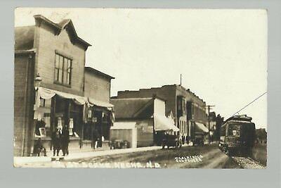 Neche North Dakota Rp C1910 Main Street Stores Trolley Nr Cavalier Pembina Ne Nd