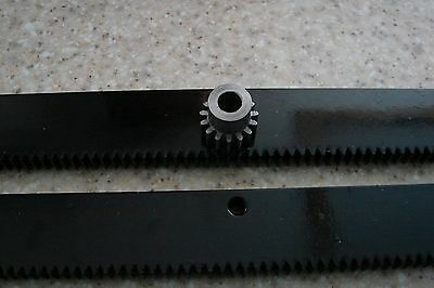 Cnc Stepper Motor Mech Rack Gear 48 Rack 2x24 Pcs 8mm 15t Pinion Gear