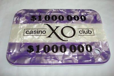 XO Casino $1,000,000.00   Abbiati sample.plaque