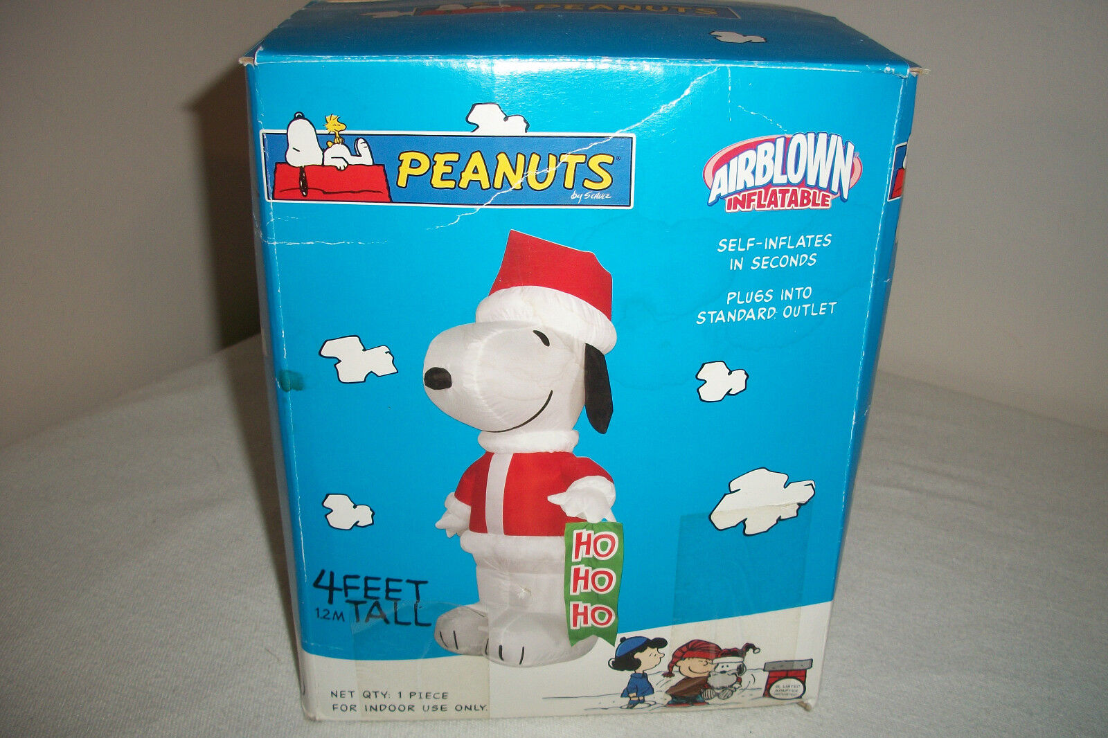 Peanuts Snoopy Airblown Inflatable 4ft Tall Christmas By Gemmy Ho Ho Ho